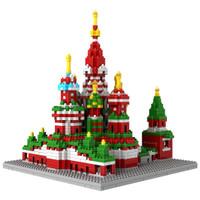LOZ 9375 Architecture Lego Nano Nanoblock Saint Basil's Cathedral
