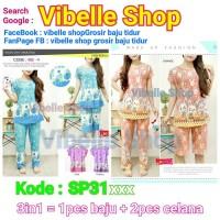 SP31xxx - 3in1 celana 2 Vibelle Shop daster baju tidur baby doll murah