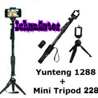 Jual Tongsis Bluetooth YUNTENG YT-1288 +MINI Tripod YUNTENG (HIGH QUALITY)) Murah
