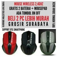 Jual mouse wireless AX-898 free batre & mousepad Murah