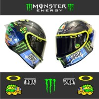 Cutting Sticker Stiker Visor Helm VR 46 Valentino Rossi Monster Energy