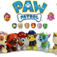 01 - Boneka Paw Patrol Set 6 Karakter Boneka Tracker Chase Zuma