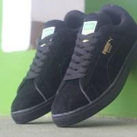 sepatu casual pria puma suede all black original premium 39-44 import