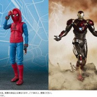 SHF Spiderman Home-made Suit & Ironman Mk - 47 set - PVC Heroes Figure