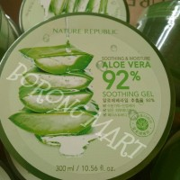 Jual NATURE REPUBLIC ALOE VERA 92% SOOTHING GEL 300 ML - ORIGINAL - READY Murah