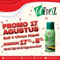 Ufrezz Antimicrobial Spray Promo 17 Agustus 2017 (4pcs)