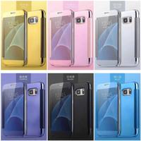 Casing Hp Cover Samsung J5 Prime J7 Prime Flip Cover Miror Case