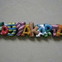Magnet Kulkas Huruf Colorful Surabaya Yogyakarta Jakarta
