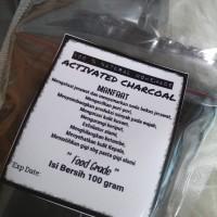 Jual Activated Charcoal Powder Bubuk Arang Aktif Kemasan Pouch Murah