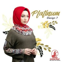 kerudung jilbab hijab segiempat umama scarf platinum paris europe