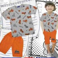 Jual AG210 Pakaian Baju Setelan Stelan Anak Laki Laki London Kids 7 - 12 T Murah