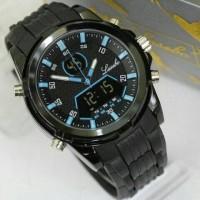 jam tangan pria cowok lasebo original digital sport anti air