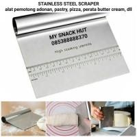 STAINLESS STEEL SCRAPER - PEMOTONG ADONAN - PERATA BUTTER CREAM