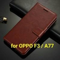 Jual Flip Cover OPPO F3 OPPOF3 | OPPOA77 A77 Wallet Leather Case Murah