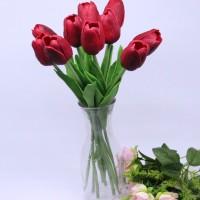 Jual Bunga Tulip Latex Merah Hati Murah
