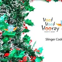 Jual Slinger Natal / Hiasan Natal Christmas / Dekorasi Natal Christmas S5 Murah