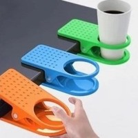 Jual Plastic table coffee cup holder cup clip tempat gelas meja kuat Murah