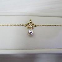 Jual Gelang Berlian dan Mutiara dan 18K Emas Crown Pearl Jewel Murah