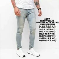 Jual skinny jeans whisker blue retro Murah