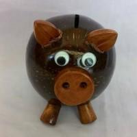 Celengan batok motif Babi