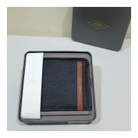 DOMPET PRIA FOSSIL ORIGINAL - FOSSIL TRIFOLD WALLET BLACK