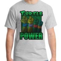 Jual Turtle Power - Kaos Superhero / Teenage Mutant Ninja Turtle  Murah