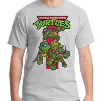 Jual Cartoon - Kaos Superhero / Teenage Mutant Ninja Turtle / Baju Pria Murah
