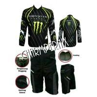 """The Monster"" Baju Jersey Sepeda Downhill dan Celana padding"