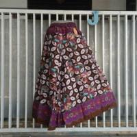 celana kulot cutbrey batik motif kawung bertumpal