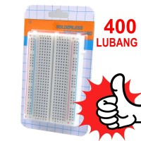 Breadboard Mini 400 Lubang 8.5x5.5cm Solderless PCB utk PROJECT