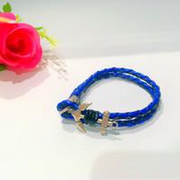 Jual gelang kulit /gelang jangkar korea/anchor bracelet Murah