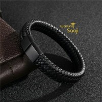 Gelang Kulit Pria / Gelang Cowok / Bracelet Men - high quality leather
