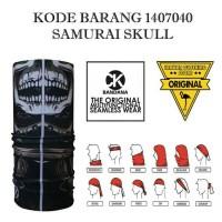 Ck Bandana 1407040 Samurai skull Masker Multifungsi Kupluk serbaguna