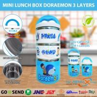 Jual Kotak Makan Rantang 3 Susun Mini Lunch Box Karakter Doraemon Murah Murah