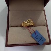 cincin emas asli kadar 916 model kepang Promo