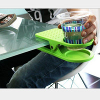 Jual Plastic table coffee cup holder cup clip tempat gelas meja kuat HHM104 Murah