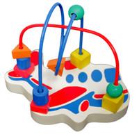 wire game pesawat mainan edukatif edukasi kayu anak SNI keren kreatif