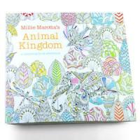 Jual buku impor _Children Adult Animal Kingdom Treasure Hunt Coloring Paint Murah