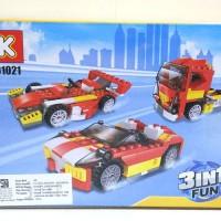 Lego Brick CREATOR 3IN1 Mobil Sport Balap Truck