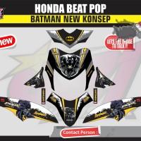 STICKER  MOTOR AKSESORIS BODY MOTOR BEAT POP FULL BODY BATMAN