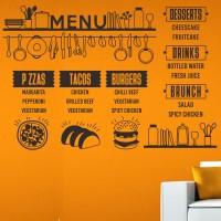 Harga stiker menu dinding custom resto cafe wall sticker daftar harga kode | antitipu.com