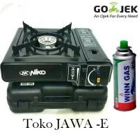 PAKET HEMAT NIKO Kompor Gas Portable & 1 Gas Kaleng