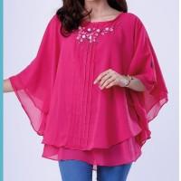 Harga baju distro baju atasan wanita dress blouse pink casual formal | Pembandingharga.com