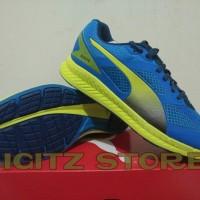ORIGINAL Sepatu Running PUMA IGNITE MESH BLUE YELLOW