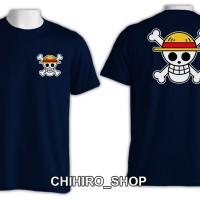 kaos one piece logo mugiwara no luffy kaos anime