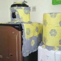 Home set sarung galon,Magic com,Kulkas [READY STOCK]aneka motif Bunga