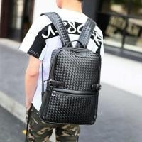 Botga Bag Backpack Tas Punggung Anyaman Mirip Bottega Bagpack Pria
