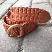 havana leather belt / ikat pinggang wanita(kulit sapi kepang)