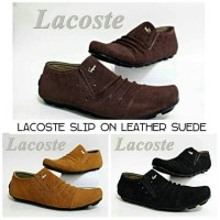 Jual Slip On Lacoste Leather Suede-sepatu murah-sepatu slop pria Murah