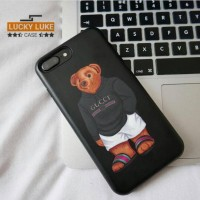 Gucci bear case iphone 5 6 7 vivo v5 casing samsung A5 oppo f3 redmi 4